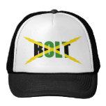BOLT JAMAICAN FLAG HAT