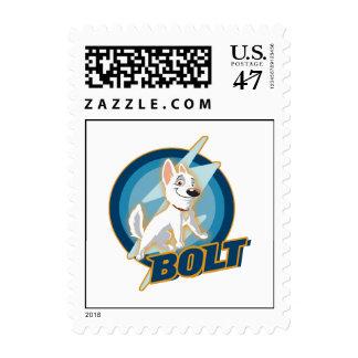 Bolt Logo Disney Postage Stamp