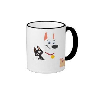 Bolt, Mittens and Rhino Disney Ringer Mug