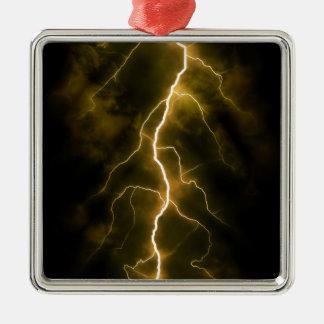 Bolt of Lightening Metal Ornament