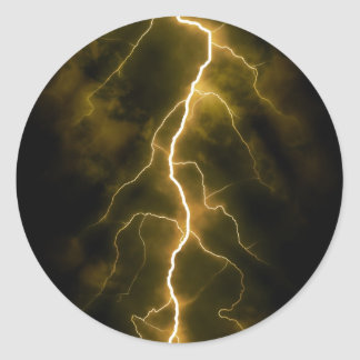 Bolt of Lightening Classic Round Sticker