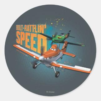 Bolt-Rattlin' Speed Round Stickers