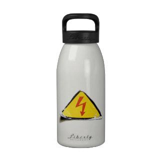 Bolt sign (on white) drinking bottle