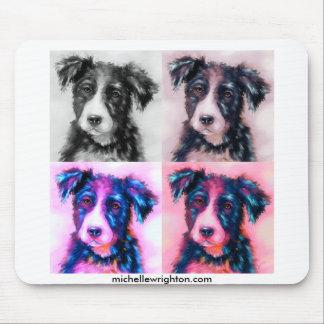 Bolt Squared - Border Collie Art Mousemats