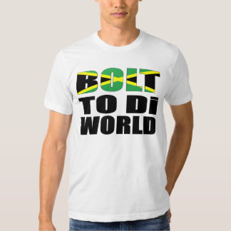 Bolt To Di World Jamaican Flag T-Shirt