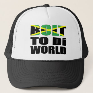 Bolt To Di World Jamaican Flag Trucker Hat