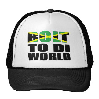 Bolt To Di World Jamaican Flag Trucker Hat