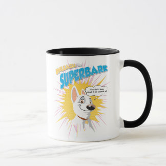 "Bolt ""unleash the superbark"" thought bubble Disney Mug"