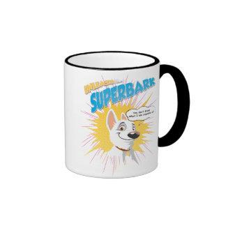 "Bolt ""unleash the superbark"" thought bubble Disney Mug"