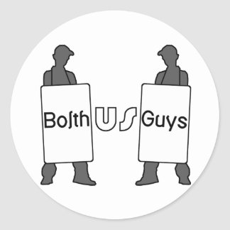 BolthUsGuys Logo Classic Round Sticker