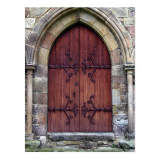 Bolton Abbey Door Postcard