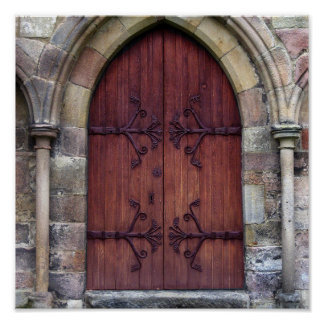 Bolton Abbey Door Poster