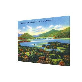 Bolton Bay, Narrows, Five Mile Mountains View Canvas Print