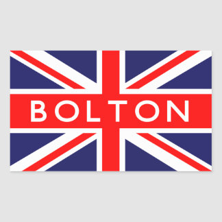 Bolton : British Flag Rectangular Sticker
