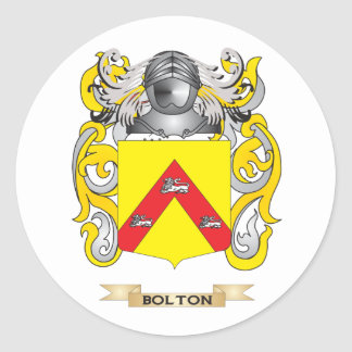 Bolton Coat of Arms (Family Crest) Round Stickers