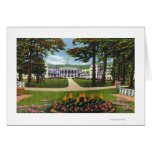 Bolton Landing Exterior View of Sagamore Hotel Greeting Card