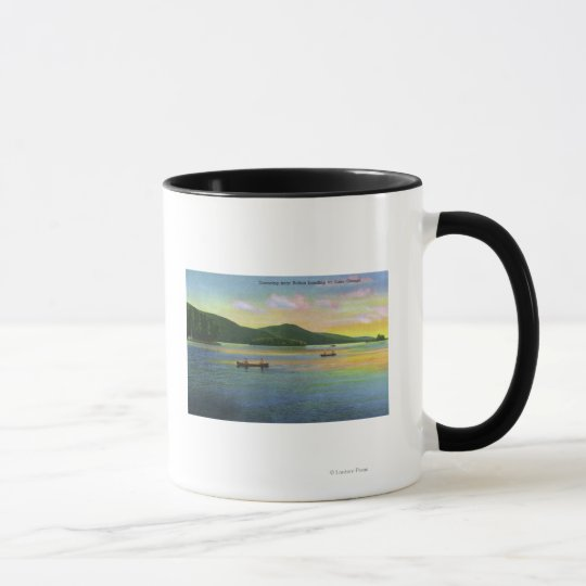 Bolton Landing View of Couples Canoeing Mug