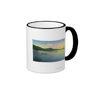 Bolton Landing View of Couples Canoeing Coffee Mugs