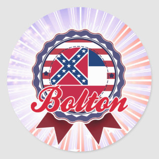 Bolton, MS Round Stickers