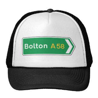 Bolton, señal de tráfico BRITÁNICA Gorras