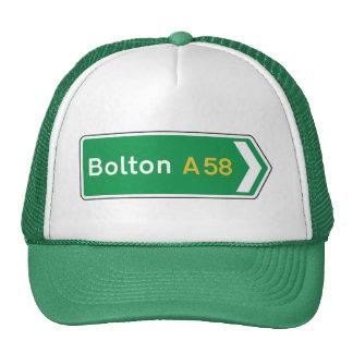 Bolton, señal de tráfico BRITÁNICA Gorra