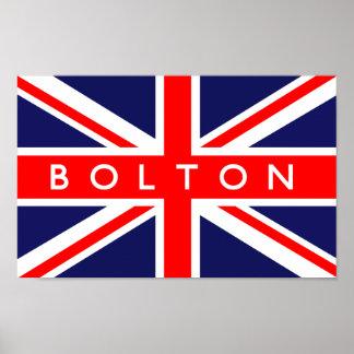 Bolton UK Flag Poster