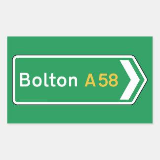 Bolton, UK Road Sign Rectangular Stickers