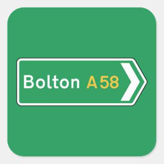 Bolton, UK Road Sign Sticker