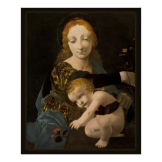 Boltraffio Madonna of the Rose CC0335 XL Poster