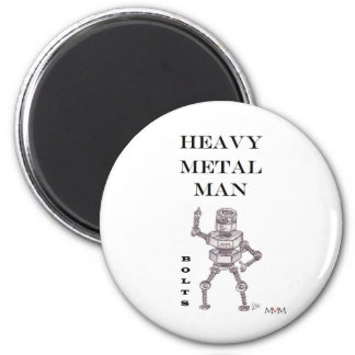 Bolts - Heavy Metal Man 2 Inch Round Magnet