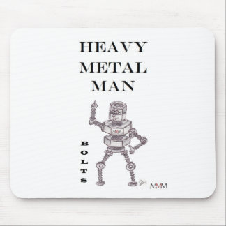 Bolts - Heavy Metal Man Mouse Pad