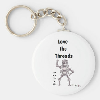 Bolts - Love the Threads Basic Round Button Keychain