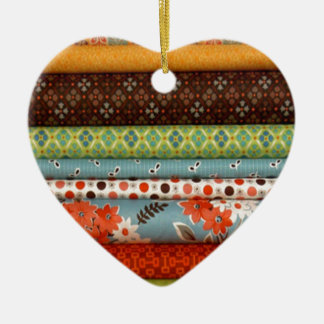 Bolts of fabric, pretty cotton designs christmas tree ornament