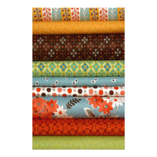 Bolts of fabric, pretty cotton designs personalized stationery