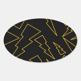 Bolts Oval Sticker