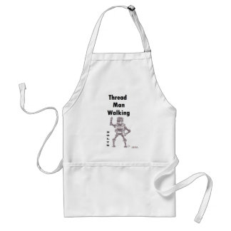 Bolts - Thread Man Walking Adult Apron