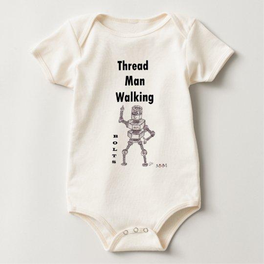 Bolts - Thread Man Walking Baby Bodysuit