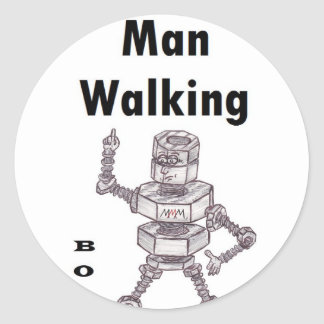 Bolts - Thread Man Walking Classic Round Sticker