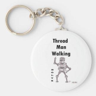 Bolts - Thread Man Walking Keychain