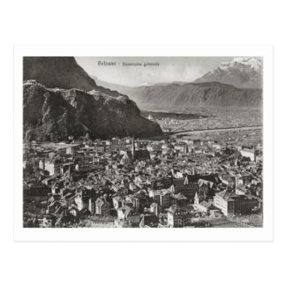 Bolzano, Italy, General view, town and alps Postcard