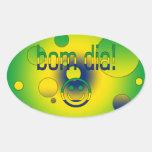 Bom Dia! Brazil Flag Colors Pop Art Sticker