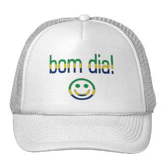 Bom Dia! Brazil Flag Colors Trucker Hat