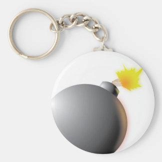 Bomb Basic Round Button Keychain