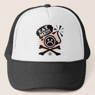 Bomb Crossbones - Red Trucker Hat