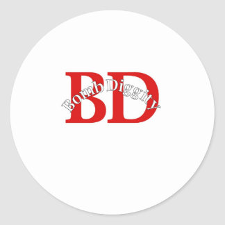 Bomb Diggity (Old School) Classic Round Sticker