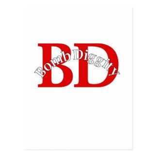 Bomb Diggity (Old School) Postcard
