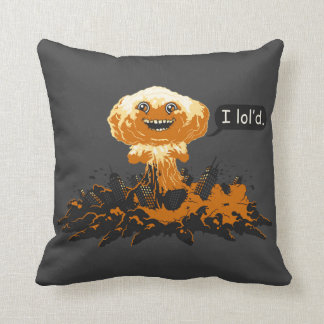 Bomb Explosion Throw Pillow