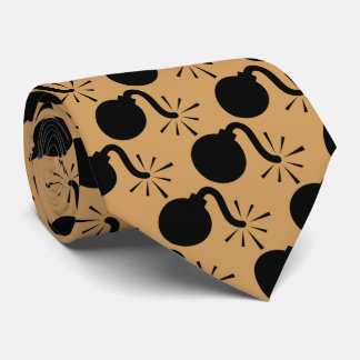 Bomb gold background neck tie