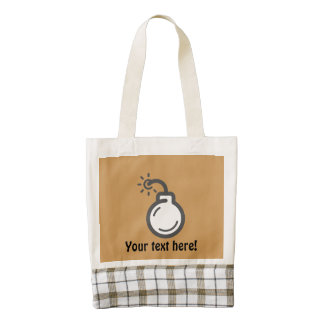 Bomb Icon Zazzle HEART Tote Bag