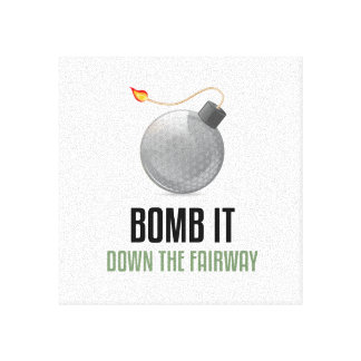 Bomb it Down the Fairway Stretched Canvas Print